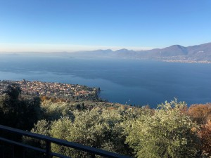 Surrounded by a verdant garden and olive trees, Villa Belvedere enjoys the best view over Lake Garda